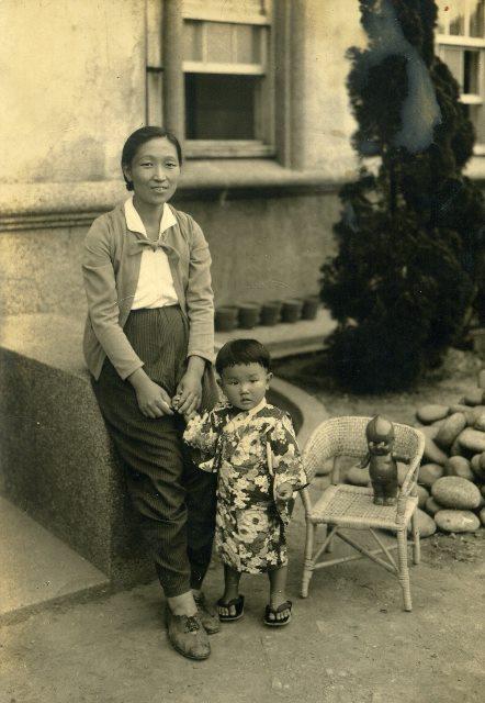 山口奶奶小時候的照片「礦山那些年-開山120週年紀念展」中展出(山口洋子提供)
